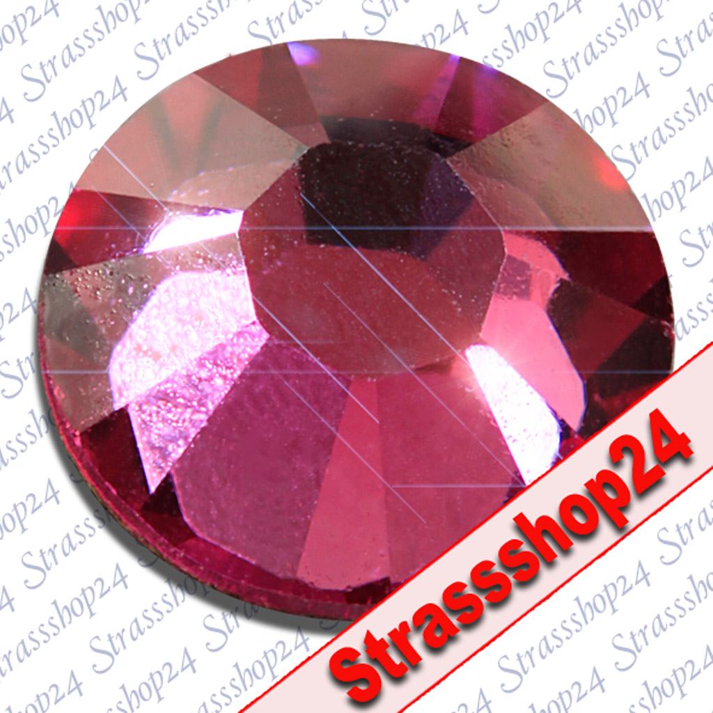 Strass Steine No Hotfix Swarovski® FUCHSIA SS16 Ø3,9mm