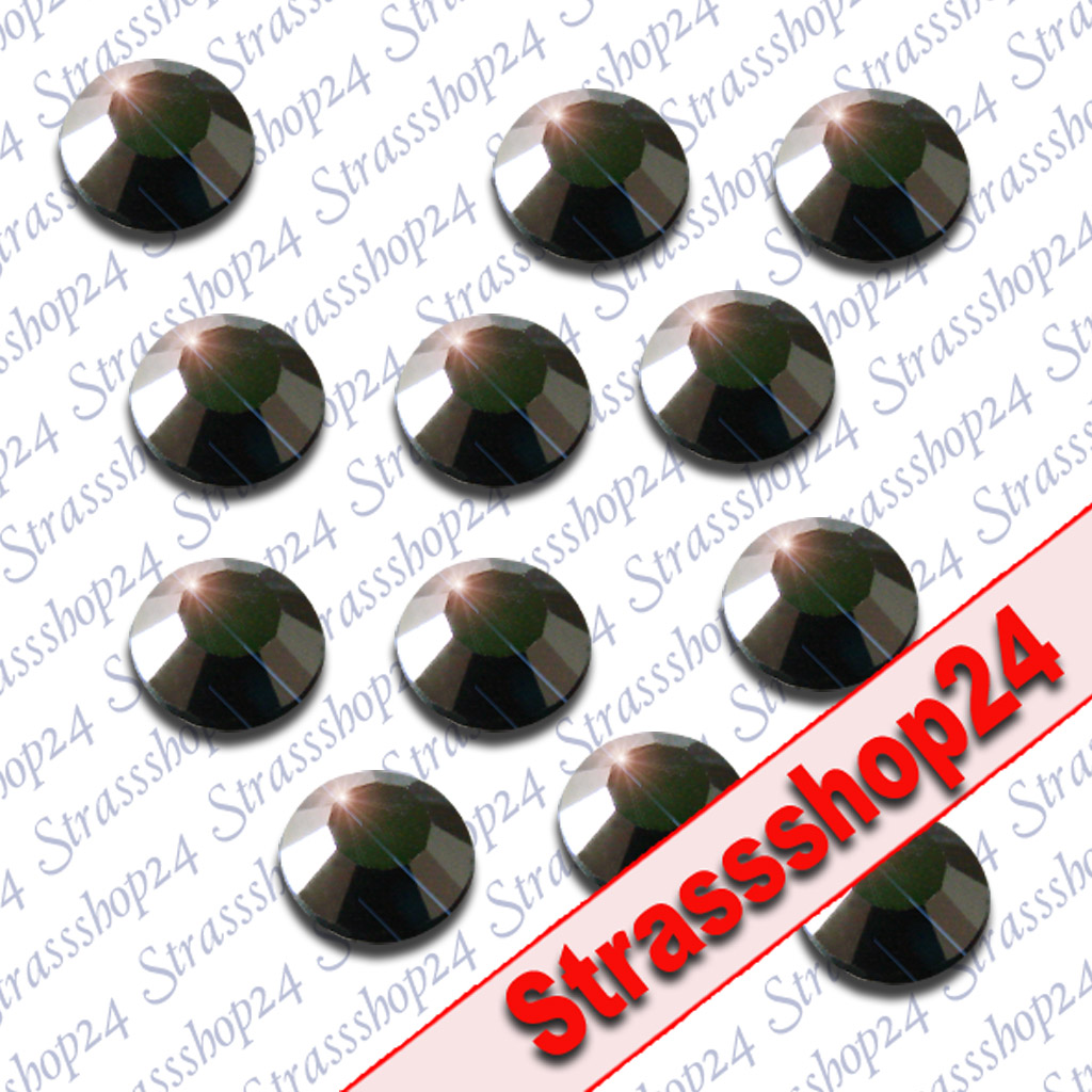 Strass Steine Hotfix Rhinestones JET SS10 Ø3mm