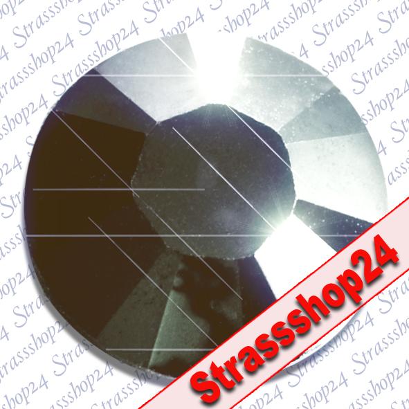 Strass Steine No Hotfix Swarovski® JET HEMATITE SS3 Ø1,4mm