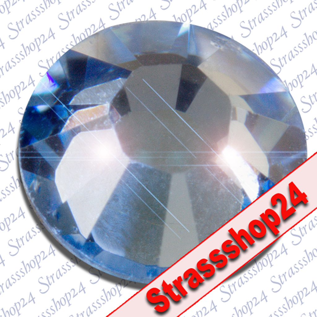 Strass Steine Hotfix Swarovski® LIGHT SAPHIRE SS12 Ø3,2mm