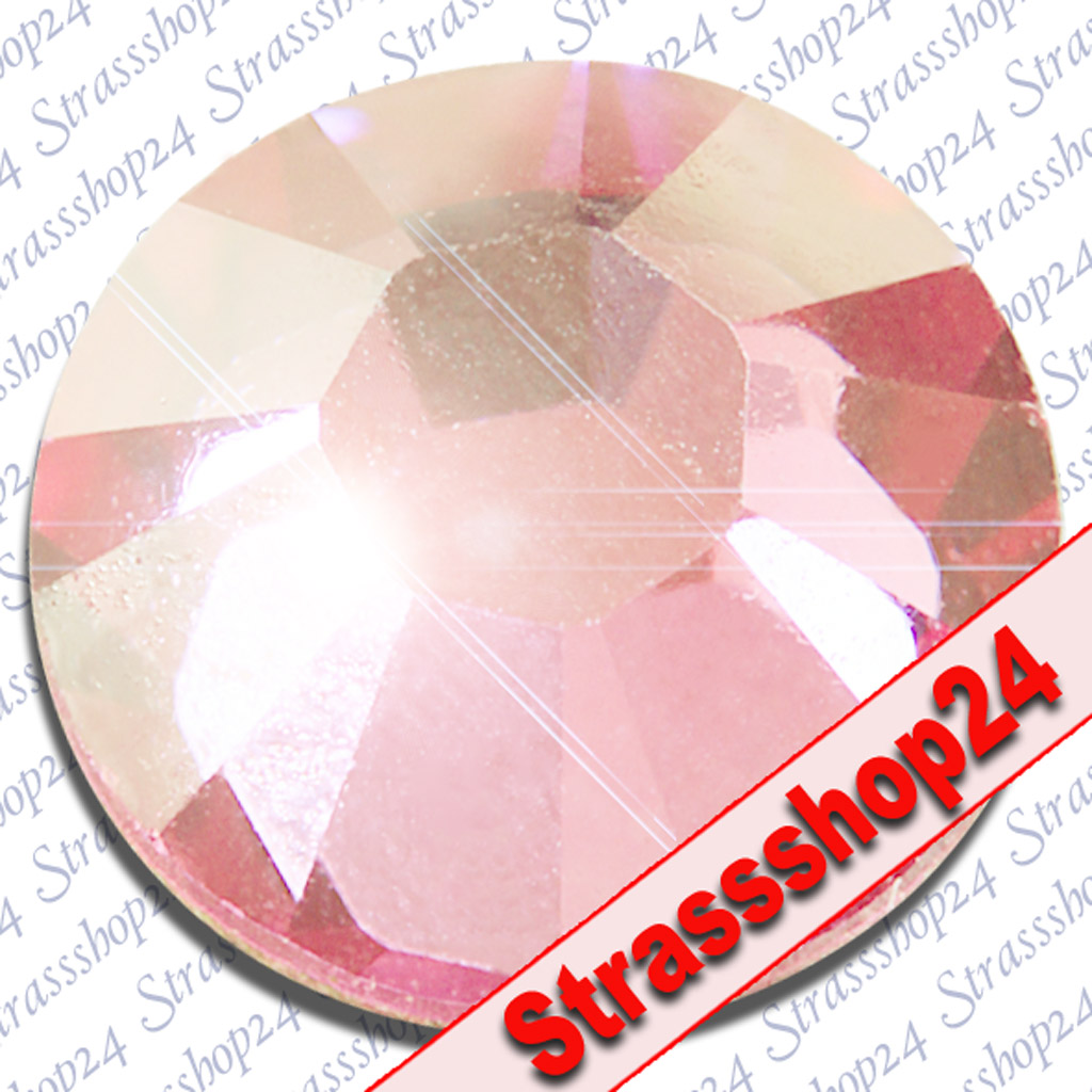 Strass Steine No Hotfix Swarovski® LIGHT ROSE SS8 Ø2,4mm