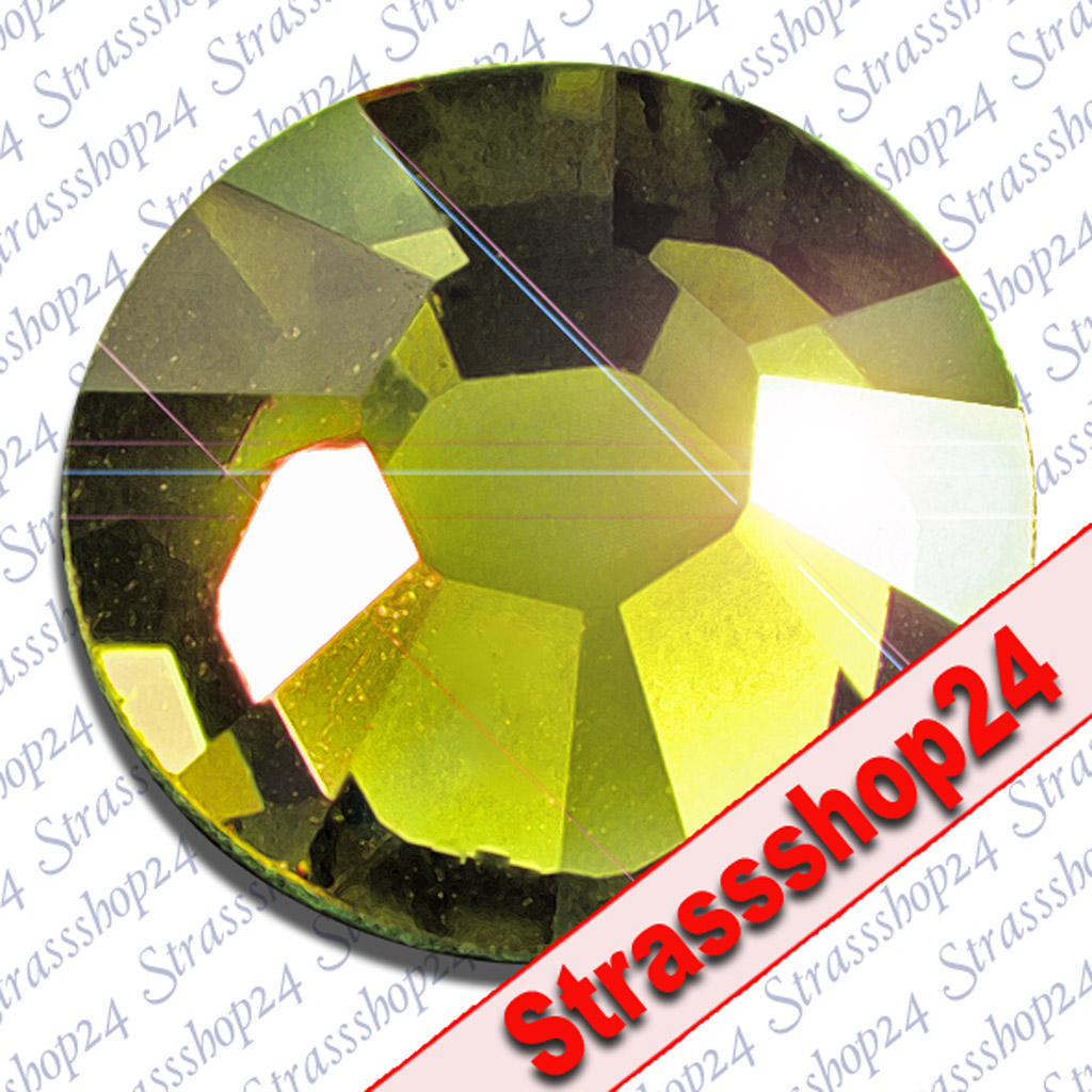 Strass Steine Hotfix Swarovski® OLIVINE SS30 Ø6,4mm