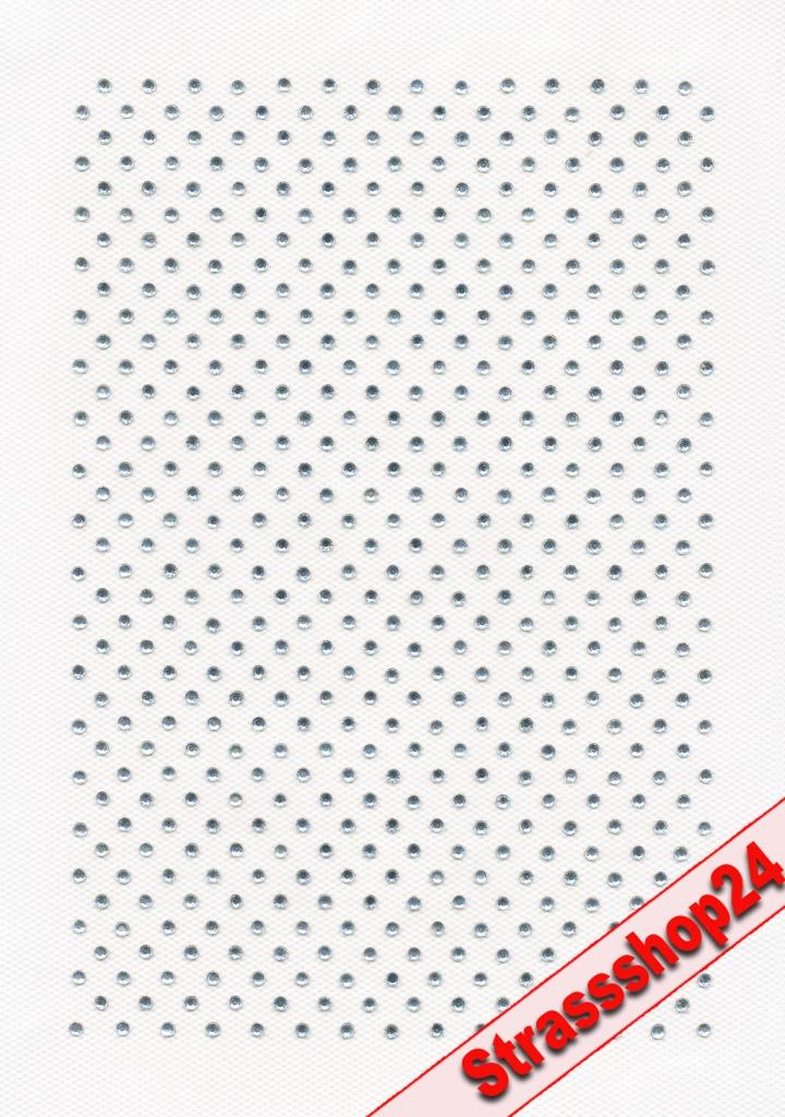 Strass Bügelbild Hotfix Motiv Applikation MUSTER auf DIN A 5 SS6/2mm Steine