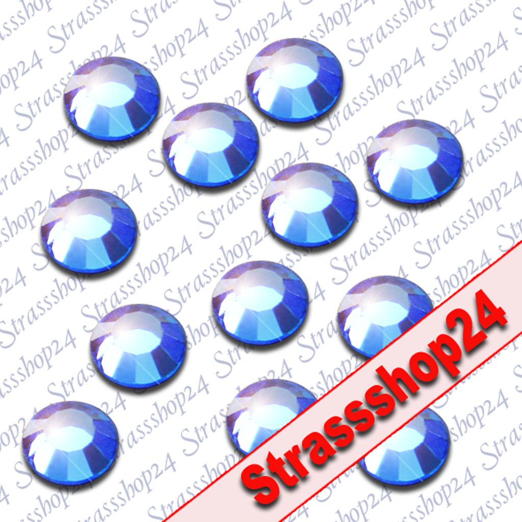 Strass Steine Hotfix Rhinestones SAPHIRE SS16 Ø4mm