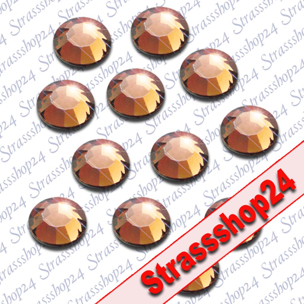 Strass Steine Hotfix Rhinestones SMOKED TOPAZ SS16 Ø4mm