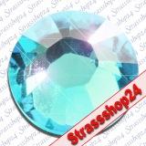 Strass Steine Hotfix PRECIOSA Crystals AQUA BOHEMICA SS30 Ø6,4mm
