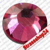 Strass Steine Hotfix PRECIOSA Crystals FUCHSIA SS30 Ø6,4mm