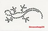 Strass Bügelbilder Hotfix Motive Applikationen  KLEINE ECHSE ca. 6,1 x 3,5 cm