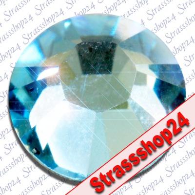 Strass Steine Hotfix Swarovski® AQUAMARIN SS10 Ø2,8mm