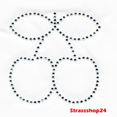 Strass Bügelbilder Hotfix Motive Applikationen  KIRSCHE ca. 7,2 x 7,2cm