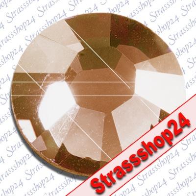 Strass Steine No Hotfix Swarovski® LIGHT COLORADO TOPAZ SS3 Ø1,4mm