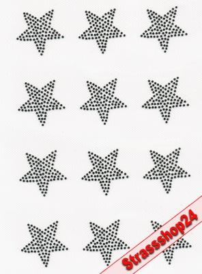 Strass Bügelbilder Hotfix Motive Applikationen  KLEINER STERN ca. 4 x 4 cm