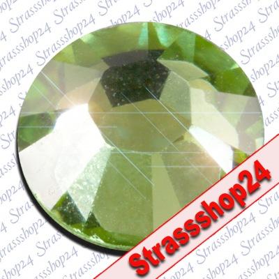 Strass Steine Hotfix PRECIOSA Crystals PERIDOT SS5 Ø1,8mm